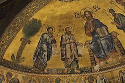 Basilique Saint-Paul-hors-les-murs, Rome, détail de la coupole
