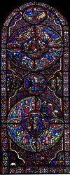 Bourges, vitrail du mystère pascal