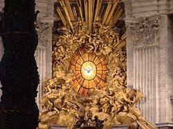 vitrail de l'Esprit Saint, Saint-Pierre de Rome