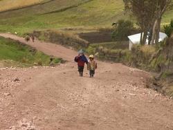 enfants près de Cicalpa Vieja, Équateur
