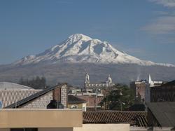 Le Chimborazo vu de Riobamba