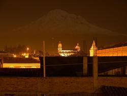reflet de lune sur le Chimborazo